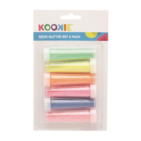 Kookie Glitter Set 6 Pack Neon