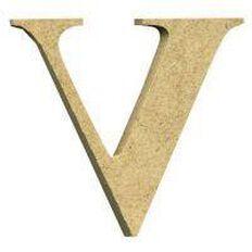 Sullivans Mdf Board Alphabet Letter 17cm V Brown