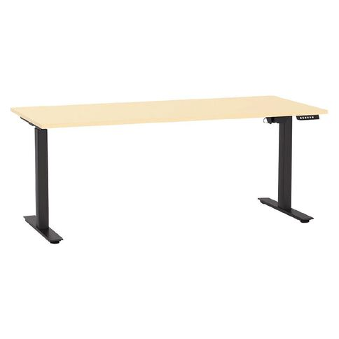 Agile Height Adjustable Electric Desk 1800 Nordic Maple/Black