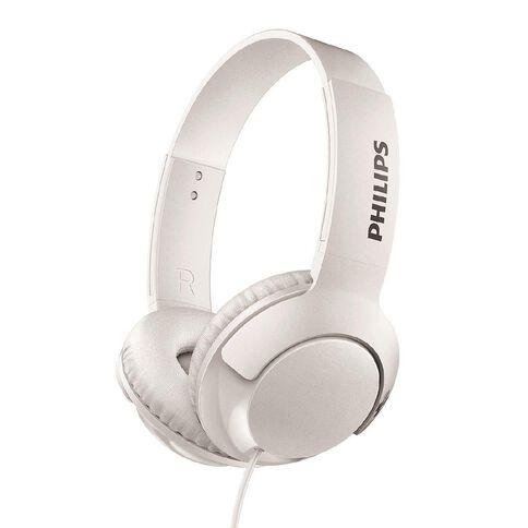 Philips On Ear Bass+ Headphones White