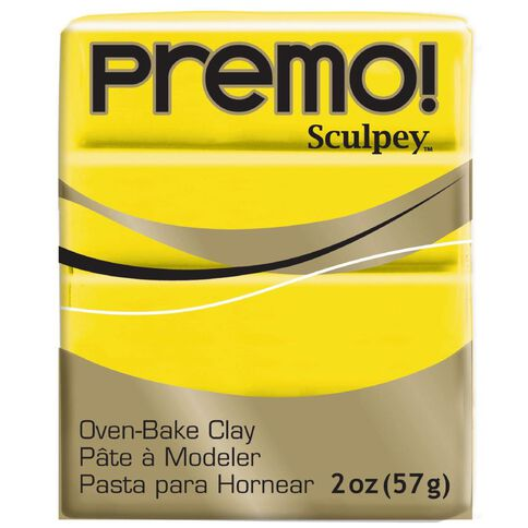 Sculpey Premo Accent Clay 57g Cadmium Hue Yellow