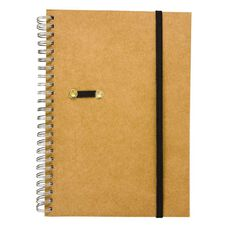 GBP Stationery Notebook Card Elastic Black/Tan 80 Leaf A5
