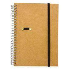 GBP Stationery Notebook Card Elastic Black/Tan 80 Leaf A5