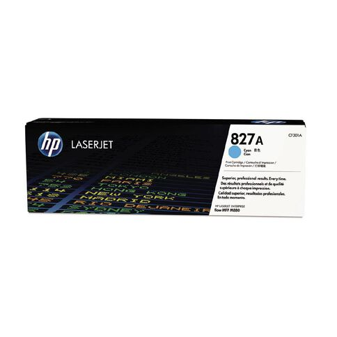 HP 827A Cyan Contract LaserJet Toner Cartridge (32000 Pages)