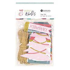 Rosie's Studio Bows & Bells Tag & Twine Set 24 Piece 5 Metres