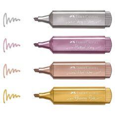 Faber-Castell Textliner 46 Highlighter - Wallet Metallic Colours