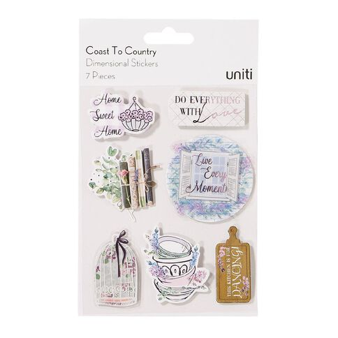 Uniti Coast to Country Dimensional Stickers