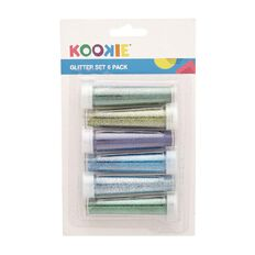 Kookie Glitter Set 6 Pack Blue and Green