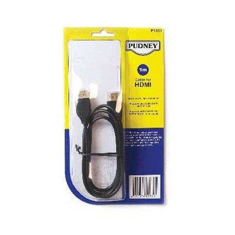 Pudney & Lee HDMI 1m Cable Black