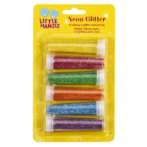Little Hands Neon Glitter 6g 6 Pack