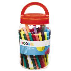 Kookie Colouring Tub 68 Pack Multi-Coloured