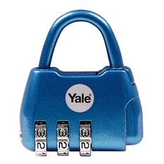 Yale Padlock Active Style 3 Digit Combination Blue
