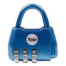 Yale Padlock Active Style 3 Digit Combination Blue