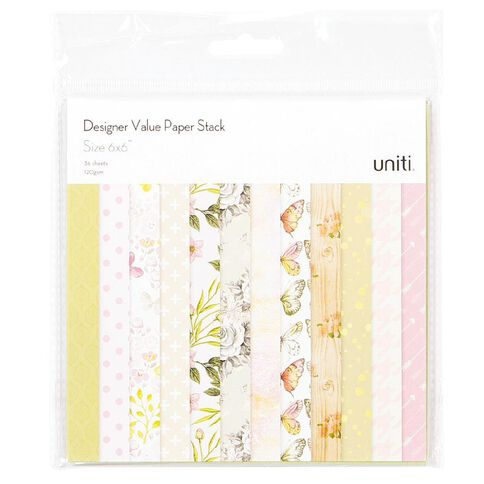 Uniti Value Paper Stack 40 Sheet 6in x 6in
