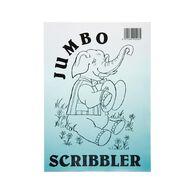 Jumbo Scribbler Jotter Pad 120 Leaf White A4