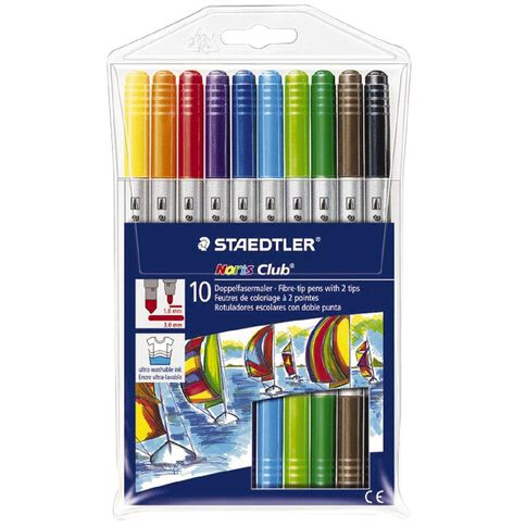Staedtler Noris Duo Fibre-tip Pen Wallet 10 Assorted