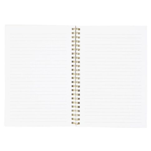 Uniti F&F Soft Spiral Notebook Noted Foil Colours In White A5