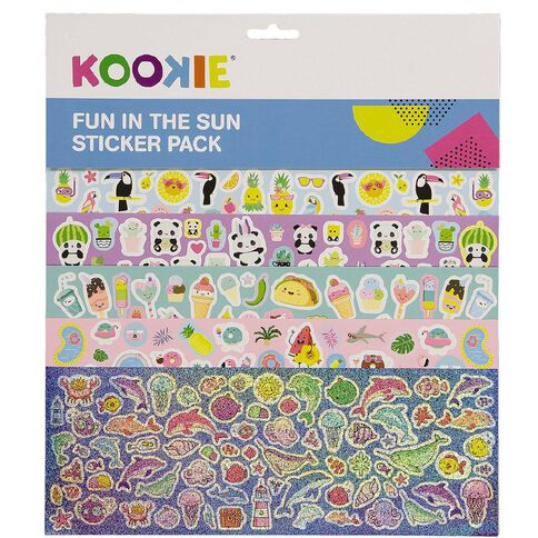 Kookie Sticker Pack 5 Sheets Fun in the Sun