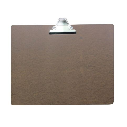 Office Supply Co Hardboard Clipboard Brown A3