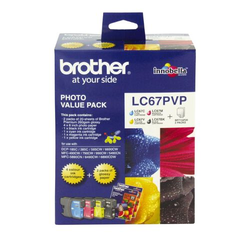 Brother Ink LC67 Photo Value 4 Pack