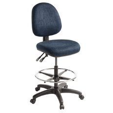 Eden Tag 2 Lever Midback Tech Chair with Footring Navy
