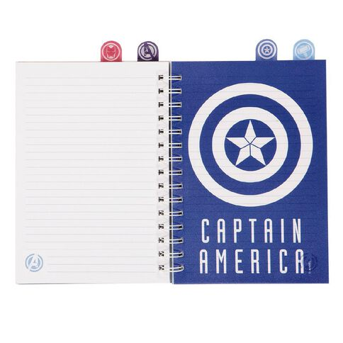 Avengers Spiral Notebook With Tabs A5