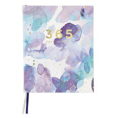 WS 365 Days PU Hardcover Journal Blue 160mm X 197mm