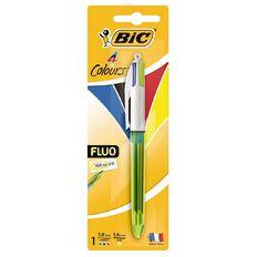 Bic 4 Colour Fluo Ball Pen
