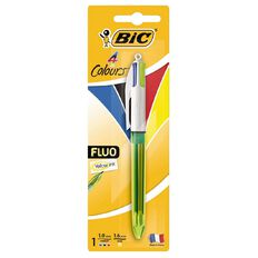 Bic 4 Colour Fluo Ball Pen