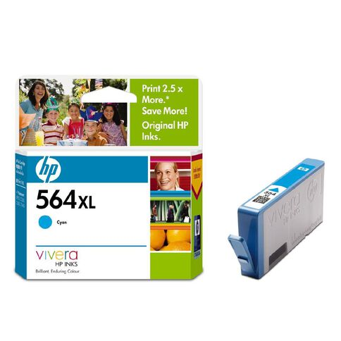 HP Ink 564XL Cyan (750 Pages)
