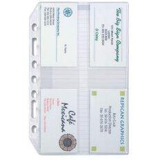 Debden Organiser Desk Edition Refill Card Holder 3 Pack Clear