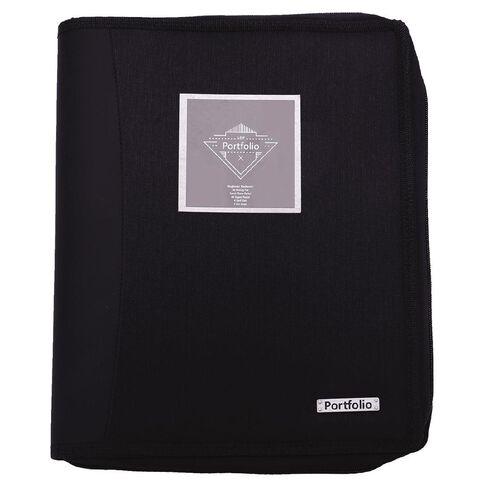 Portfolio Compendium A4 With Ringbinder Black