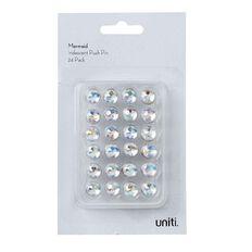 Uniti Mermaid Iridescent Push Pin 24 Pack