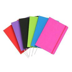 ColourHide Linen Journal 192 Page Assorted A5