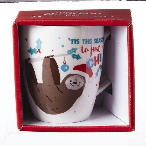 Artwrap Christmas Boxed Mug Sloth 350ml/12 Oz