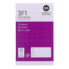 WS Notebook 3F1 12mm Ruled 32 Leaf