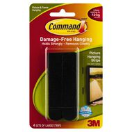 Command Picture Hanging Strips 4 Pack Black Large