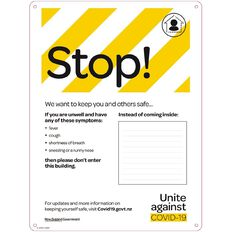 WS COVID Sign STOP POSTER