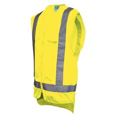 Hi-Vis Day/Night Safety Vest With Pockets Yellow Large