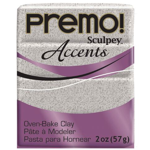 Sculpey Premo Accent Clay 57g Granite Grey