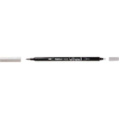 MARVY Le Plume II Dual Tip Marker Light Cool Grey