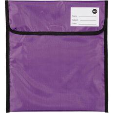 WS Book Bag Zipper Pocket 36cm x 33cm Purple