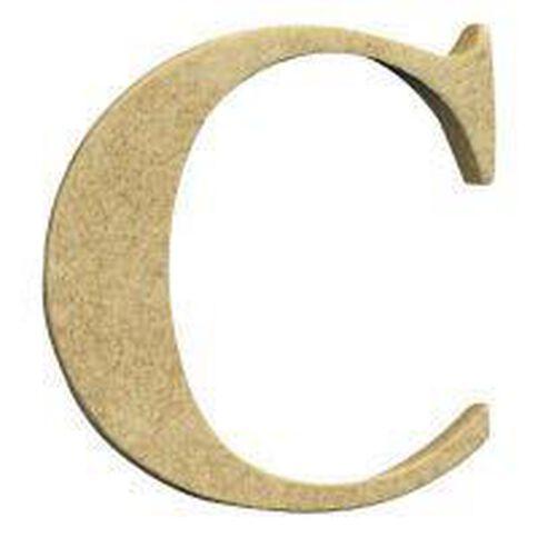 Sullivans Mdf Board Alphabet Letter 17cm C Brown