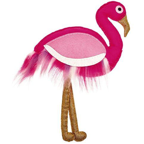 My Studio Girl Glitterati Pillow Flamingo