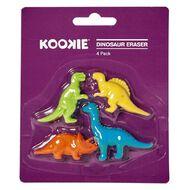 Kookie Dinosaur Eraser 4 Pack
