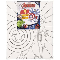 Avengers Paint Your Own Canvas 20cm x 25cm 2 Pack