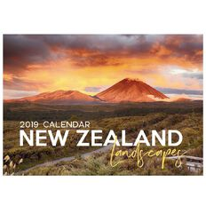 Calendar 2019 NZ Landscapes with Envelope A4