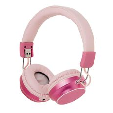 New Craft Wireless Headphones Metallic with Carry Pouch Pink