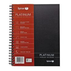 Spirax Notebook 400 Platinum Black A4