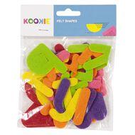 Kookie Felt Shapes Multi-Coloured 25 Pack